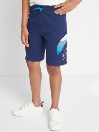 Gap Beachside Pull On Slub Shorts - Elysian blue