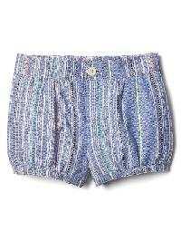 Gap Texture Stripe Bubble Shorts - Blue dobby stripe