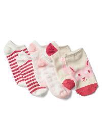 Gap Animal No Show Socks (3 Pairs) - Oatmeal bunny