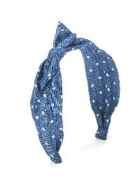 Gap Knot Scarf Headband - Chambray dot