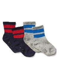Gap Double Stripe Socks (2 Pairs) - Blue uniform
