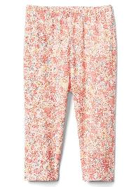 Gap Floral Stretch Jersey Leggings - Coral frost