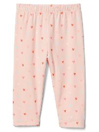 Gap Print Stretch Jersey Leggings - Pink cameo