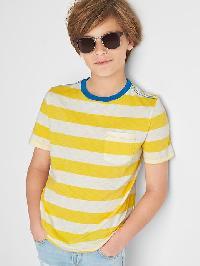 Gap Stripe Pocket Slub Tee - Yellow jacket