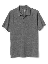 Gap Breathe Pique Polo - Heather grey