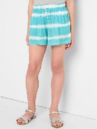 Gap Tie Dye Drapey Shorts - Aqua tide