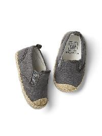 Gap Stripe Slip On Espadrilles - Grey