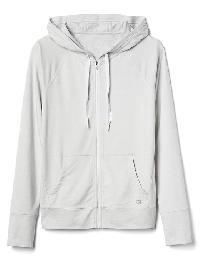 Gap Performance Jersey Zip Hoodie - Oatmeal heather