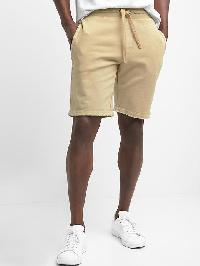 Gap French Terry Raw Hem Shorts - Iconic khaki