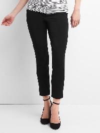 Gap Maternity Bi Stretch Inset Panel Skinny Ankle Pants - True black