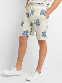 "Gap French Terry Hibiscus Drawstring Shorts (9"") - Carls stone"