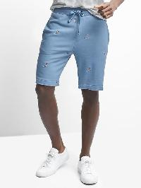 "Gap French Terry Surfer Embroidery Shorts (9"") - Blue"