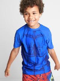 Gapkids &#124 Marvel Raglan Rashguard - Radiant blue