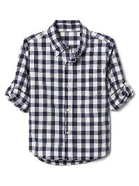 Gap Check Poplin Convertible Shirt - New zephyr