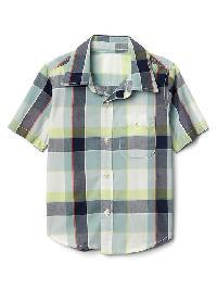Gap Plaid Short Sleeve Shirt - Fresh water 917