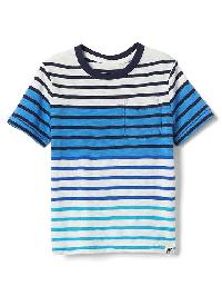 Gap Stripe Block Pocket Tee - New off white