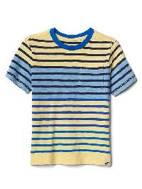 Gap Stripe Block Pocket Tee - Creamy yellow