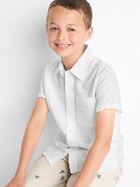Gap Linen Blend Short Sleeve Shirt - White