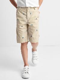 Gap Poplin Flat Front Shorts - Fresh praline