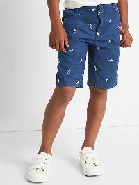 Gap Poplin Flat Front Shorts - Deep cobalt