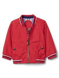Gap Poplin Varsity Jacket - Pepper red