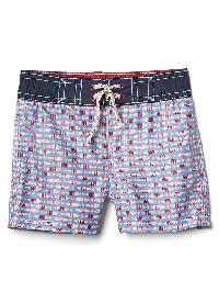Gap Americana Fish Board Shorts - New york