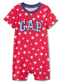 Gap Americana Logo Shorty One Piece - Pepper red