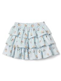 Gap Floral Ruffle Skirt - Blue floral