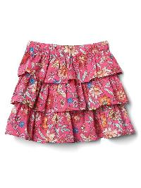 Gap Floral Ruffle Skirt - Pink floral