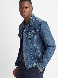 Gap Shibori Patch Icon Denim Jacket - Medium indigo