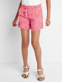 Gap Print Pom Pom Dolphin Shorts - Neon impulsive pink