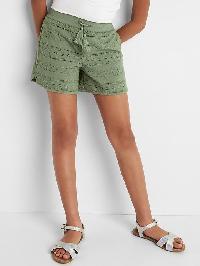 Gap Embroidery Stripe Tassel Shorts - Twig