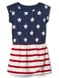 Gap Print Tulip Dress - Flag