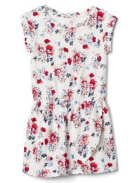 Gap Print Tulip Dress - Rose stripe red