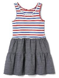 Gap Print Tank Tier Dress - Red stripe