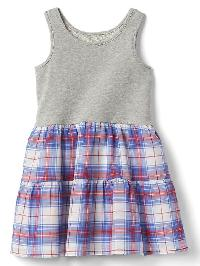 Gap Print Tank Tier Dress - Madras pld night