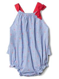 Gap Starry Chambray Bubble One Piece - Matisse blue 537