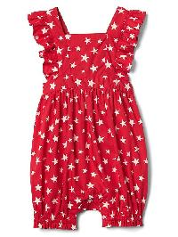 Gap Starry Flutter Shorty One Piece - Pepper red