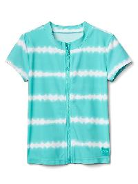 Gap Tie Dye Stripe Zip Rashguard - Fair aqua
