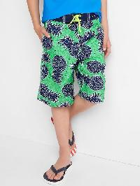 Gap Pineapple Board Shorts - Cabo green