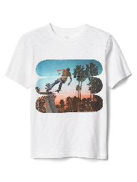 Gap Graphic Short Sleeve Slub Tee - Optic white