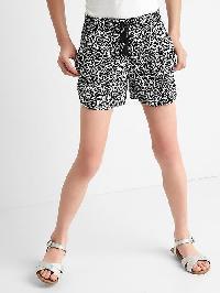 Gap Print Pull On Tassel Shorts - Black print
