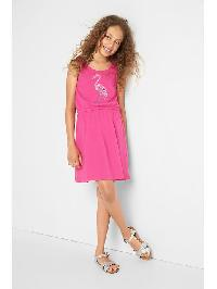 Gap Embellished Graphic Tie Tank Dress - Pink azalea