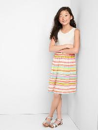 Gap Print Skirt Tank Dress - New off white