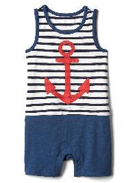 Gap Nautical Double Layer One Piece - Navy stripe