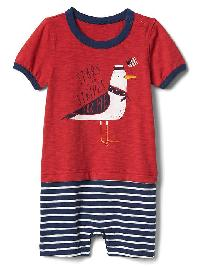 Gap Americana Double Layer Shorty One Piece - Pepper red