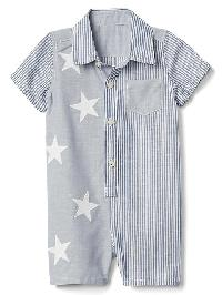 Gap Stars And Stripes Shorty One Piece - Docksider blue