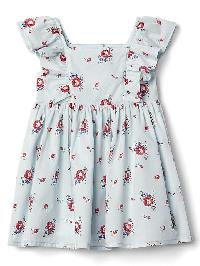 Gap Floral Flutter Dress - Blue