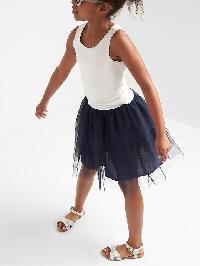 Gap Tulle Tiered Flippy Skirt - Elysian blue