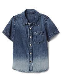 Gap Dip Dye Denim Shirt - Indigo dip dye
